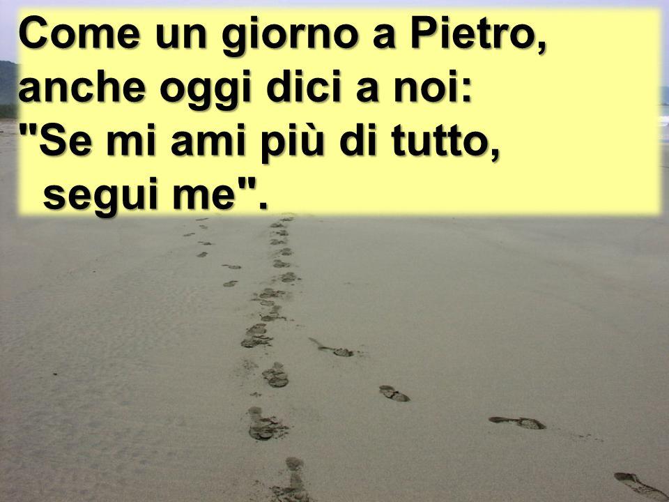 Come un giorno a Pietro, anche oggi dici a noi: Se mi ami più di tutto, segui me .