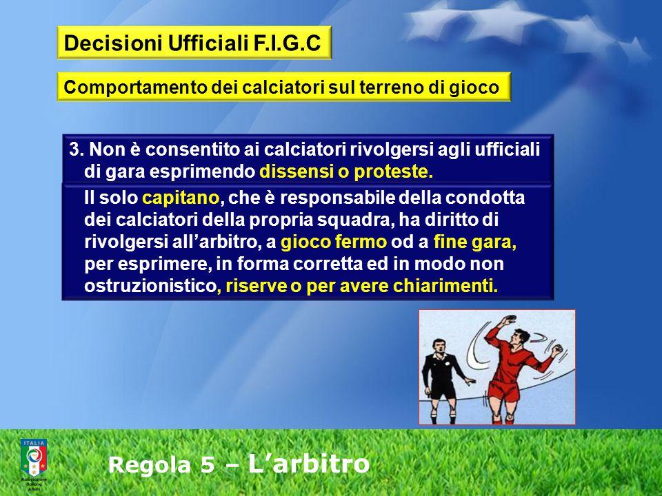 Decisioni Ufficiali F.I.G.C