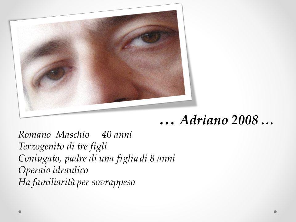 … Adriano 2008 … Romano Maschio 40 anni Terzogenito di tre figli