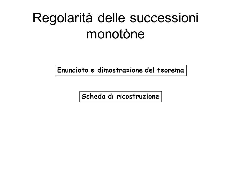 Regolarità delle successioni monotòne