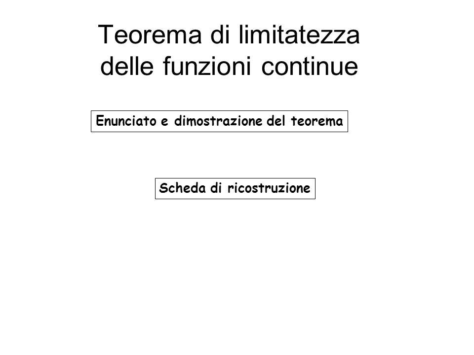 Teorema di limitatezza delle funzioni continue