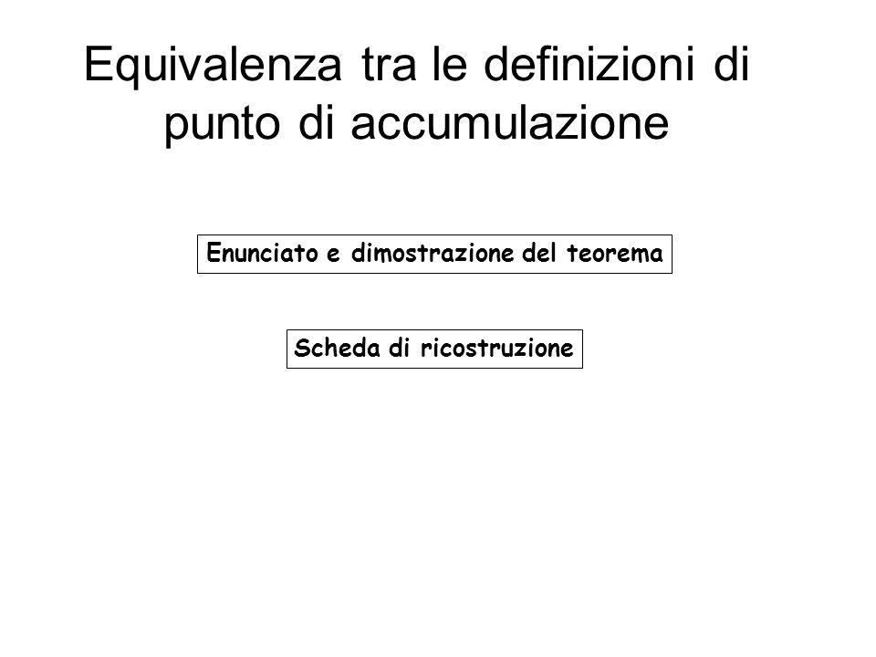 Equivalenza tra le definizioni di punto di accumulazione