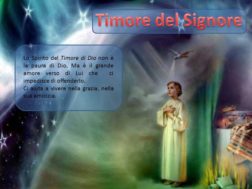 Lo Spirito del Timore di Dio non è la paura di Dio