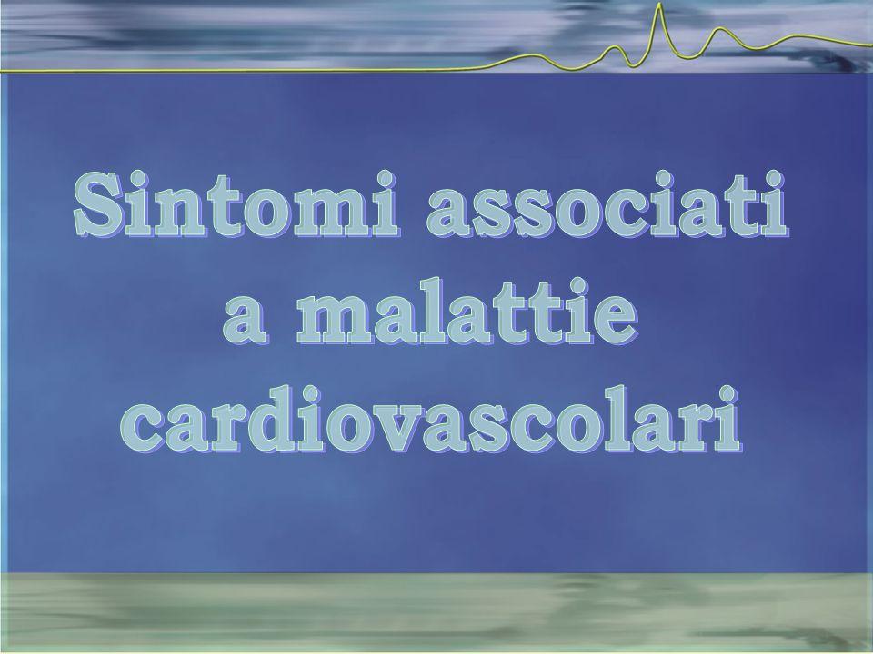 Sintomi associati a malattie cardiovascolari