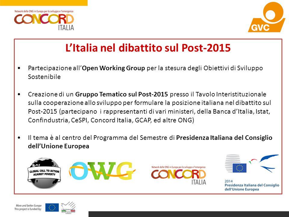 L'Italia nel dibattito sul Post-2015