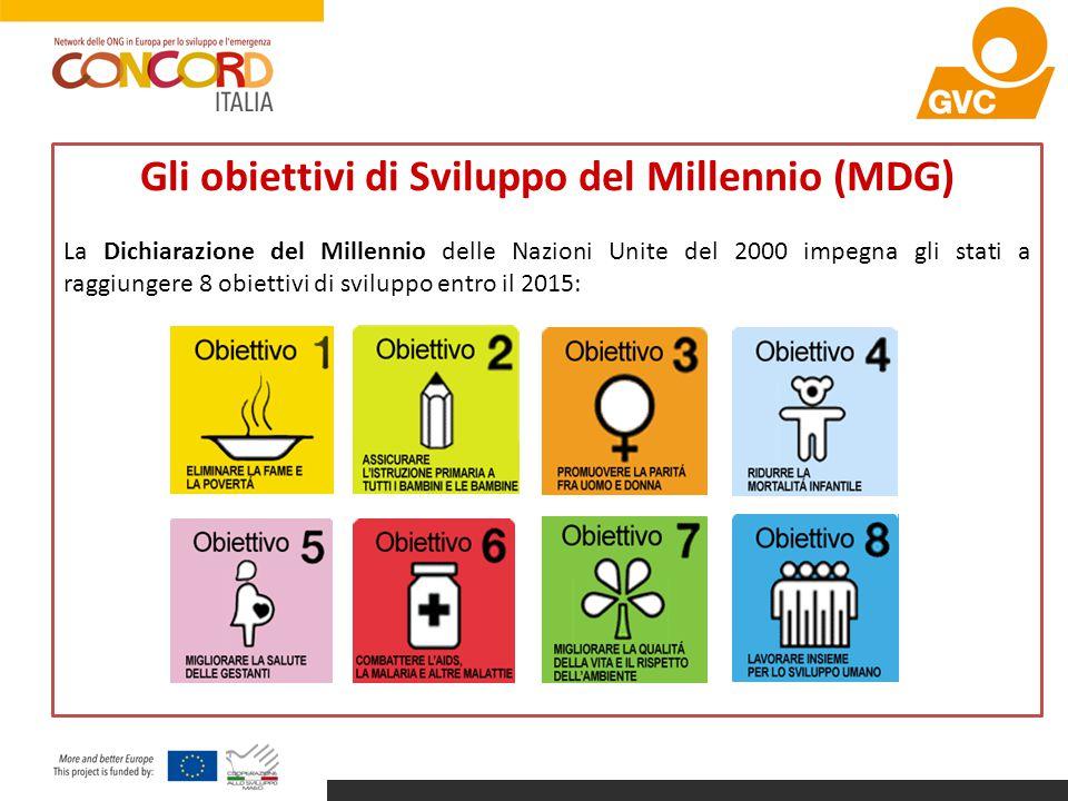 Gli obiettivi di Sviluppo del Millennio (MDG)