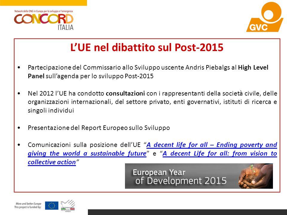 L'UE nel dibattito sul Post-2015