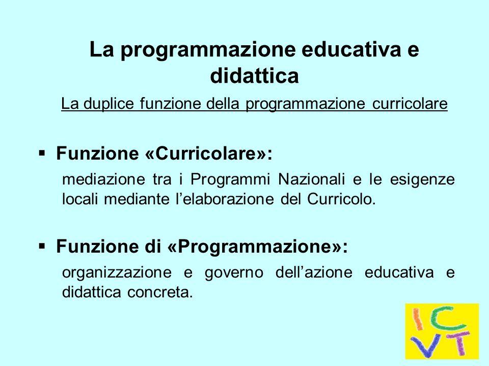 La programmazione educativa e didattica