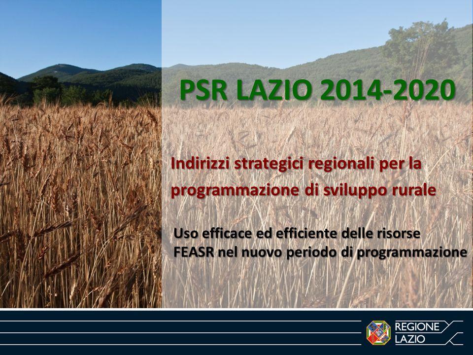 PSR LAZIO 2014-2020 Indirizzi strategici regionali per la
