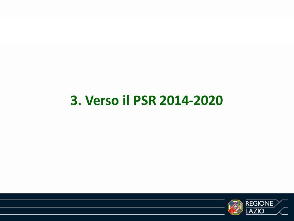 3. Verso il PSR 2014-2020