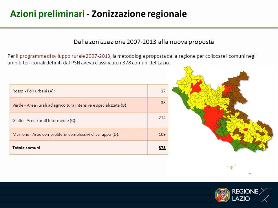 Dalla zonizzazione 2007-2013 alla nuova proposta