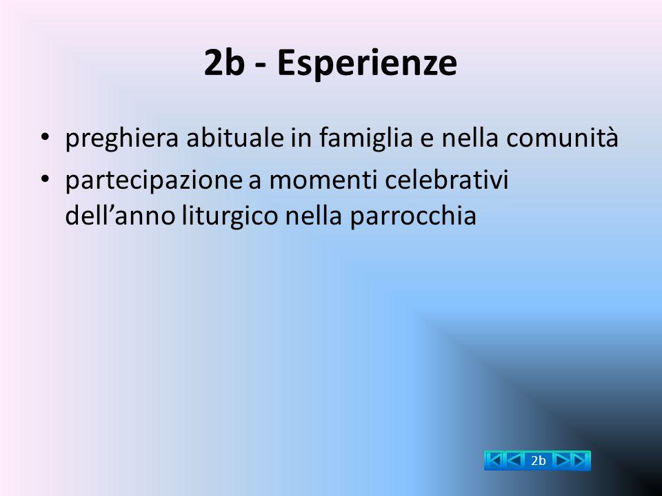 2b - Esperienze preghiera abituale in famiglia e nella comunità