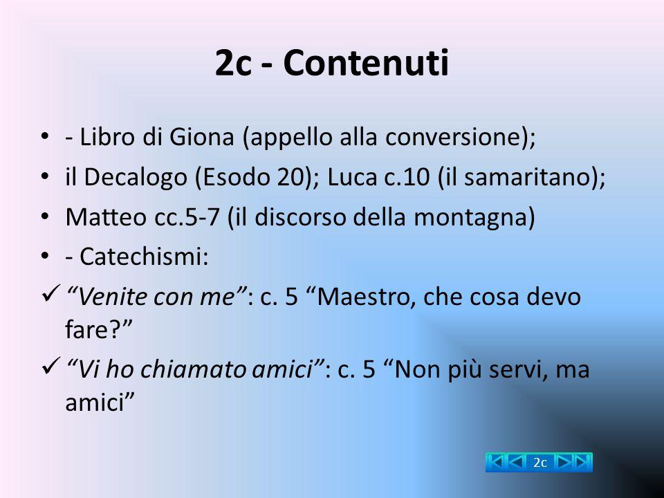 2c - Contenuti - Libro di Giona (appello alla conversione);