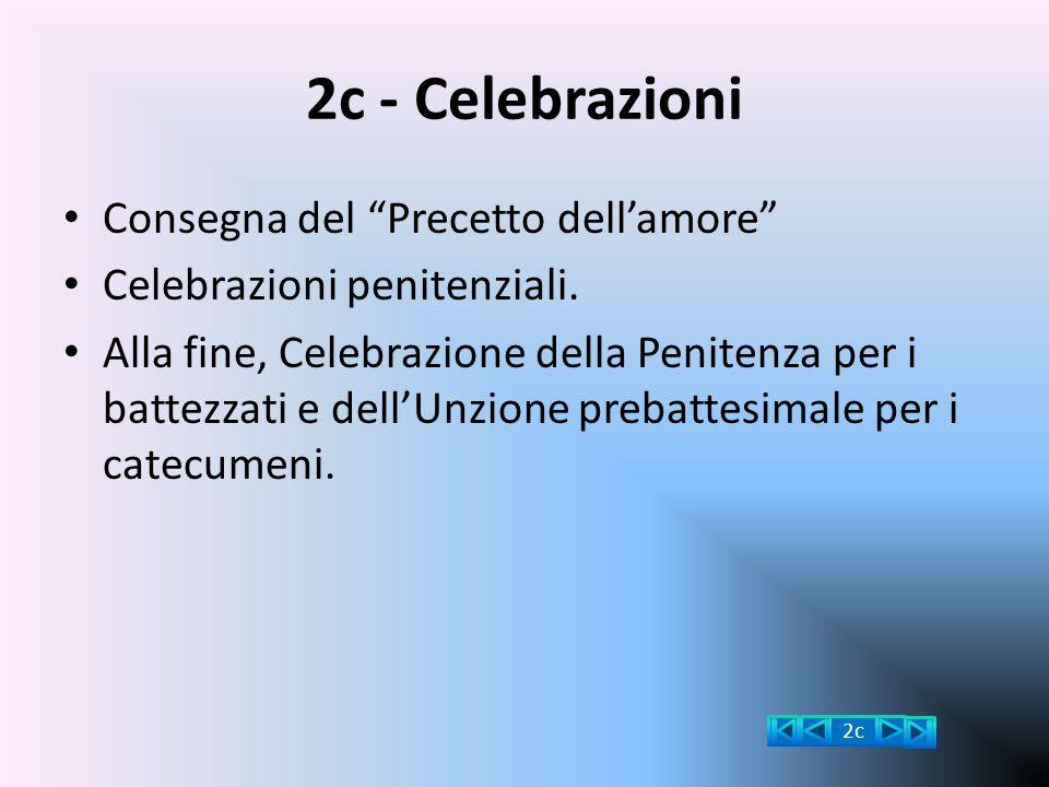 2c - Celebrazioni Consegna del Precetto dell'amore