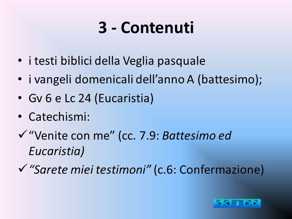 3 - Contenuti i testi biblici della Veglia pasquale