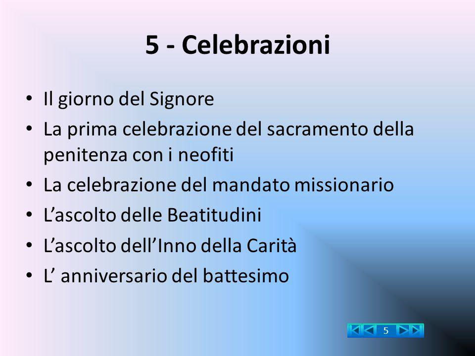 5 - Celebrazioni Il giorno del Signore