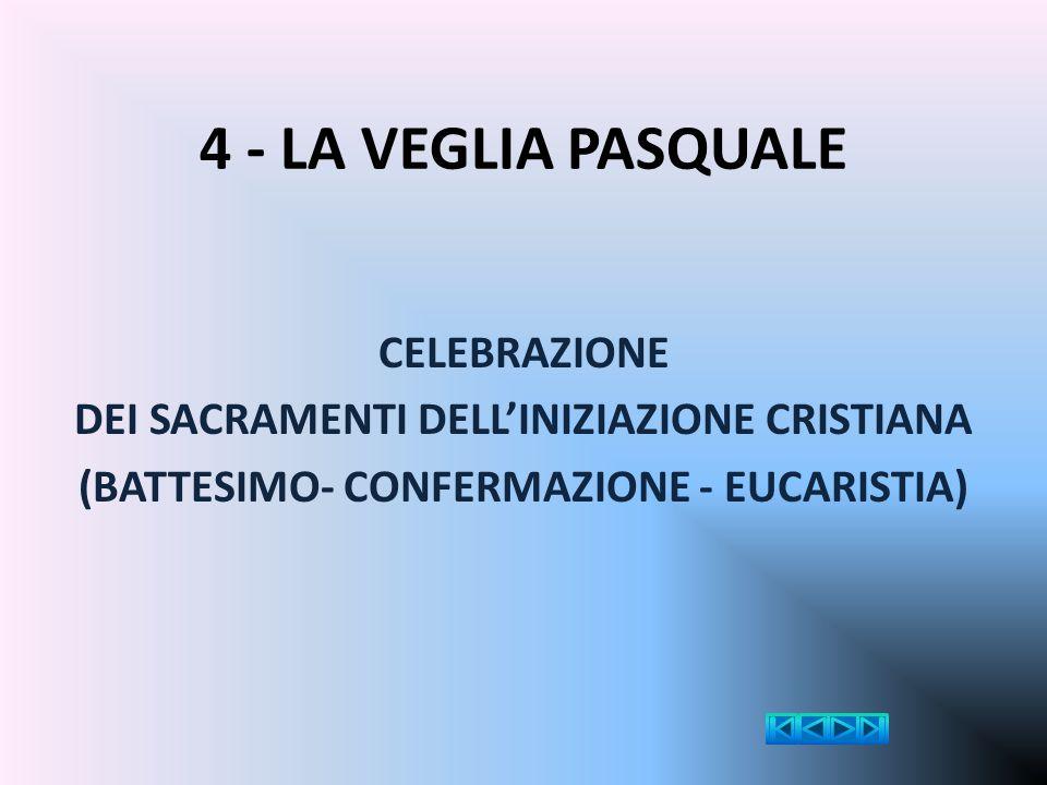 4 - LA VEGLIA PASQUALE CELEBRAZIONE
