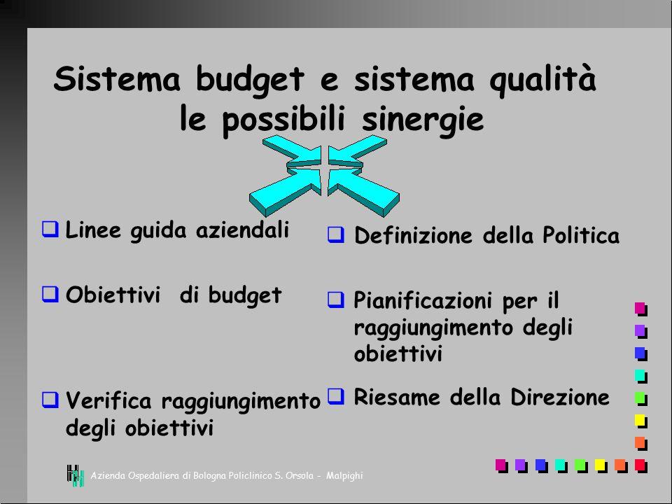 Sistema budget e sistema qualità le possibili sinergie