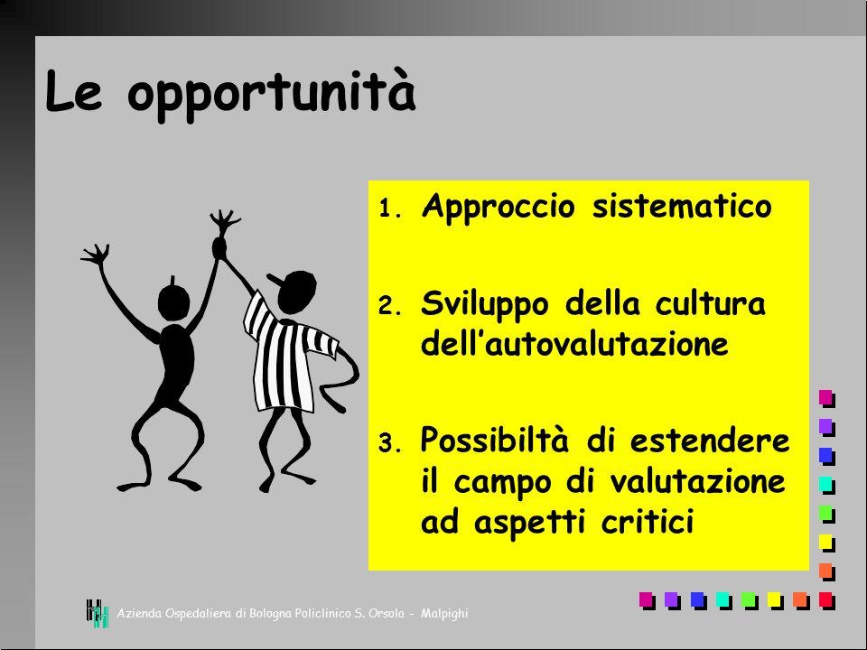 Le opportunità Approccio sistematico