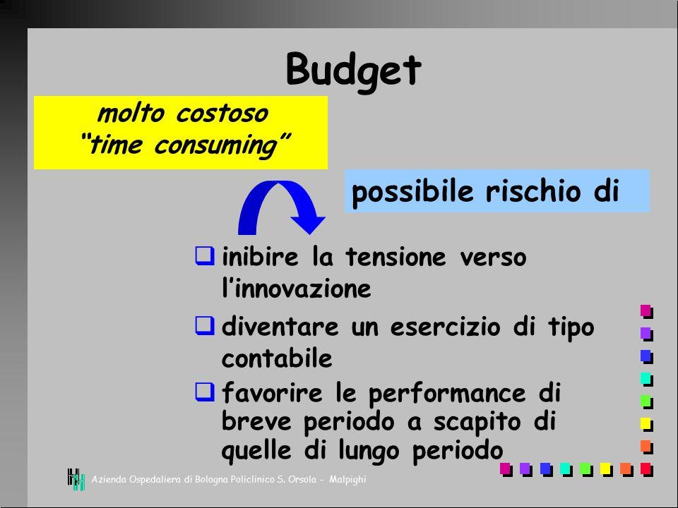 Budget possibile rischio di molto costoso time consuming