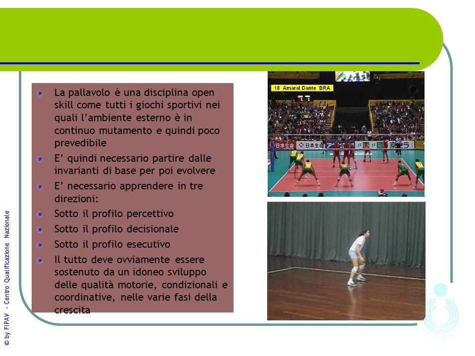 La pallavolo è una disciplina open skill come tutti i giochi sportivi nei quali l'ambiente esterno è in continuo mutamento e quindi poco prevedibile