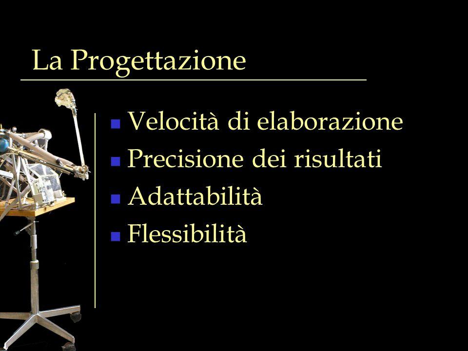 La Progettazione Velocità di elaborazione Precisione dei risultati