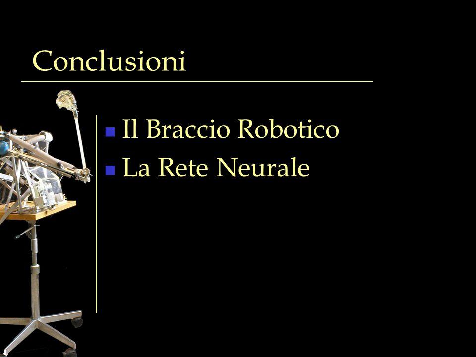 Conclusioni Il Braccio Robotico La Rete Neurale