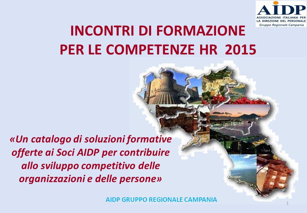 INCONTRI DI FORMAZIONE AIDP GRUPPO REGIONALE CAMPANIA