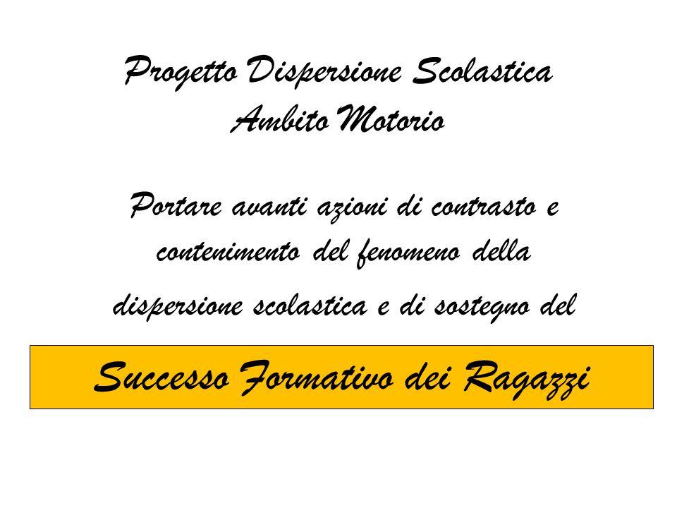 Progetto Dispersione Scolastica Ambito Motorio
