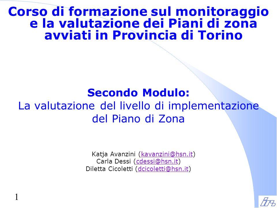 Corso di formazione sul monitoraggio e la valutazione dei Piani di zona avviati in Provincia di Torino