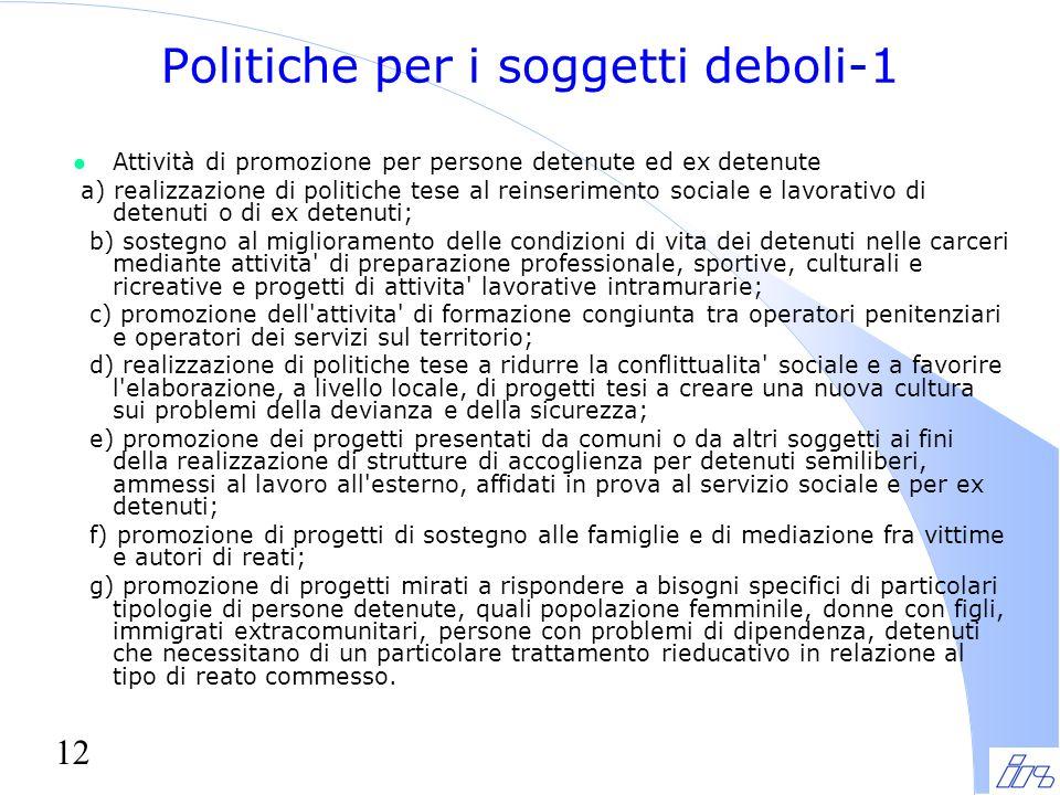 Politiche per i soggetti deboli-1