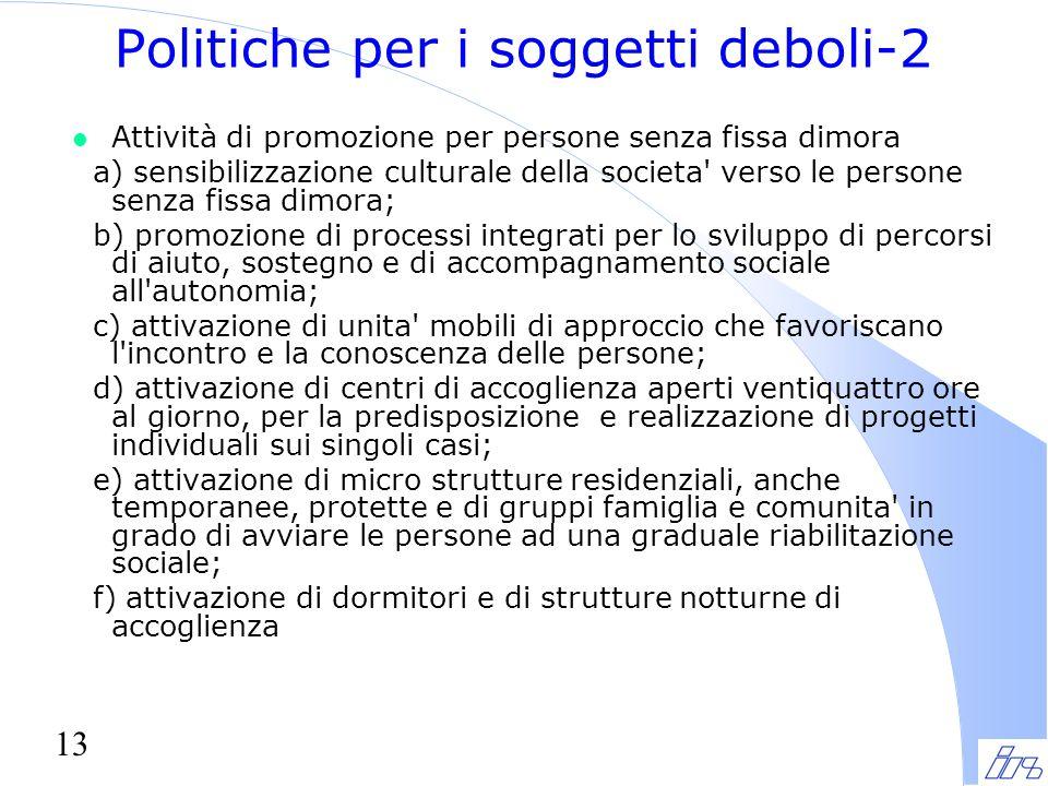 Politiche per i soggetti deboli-2