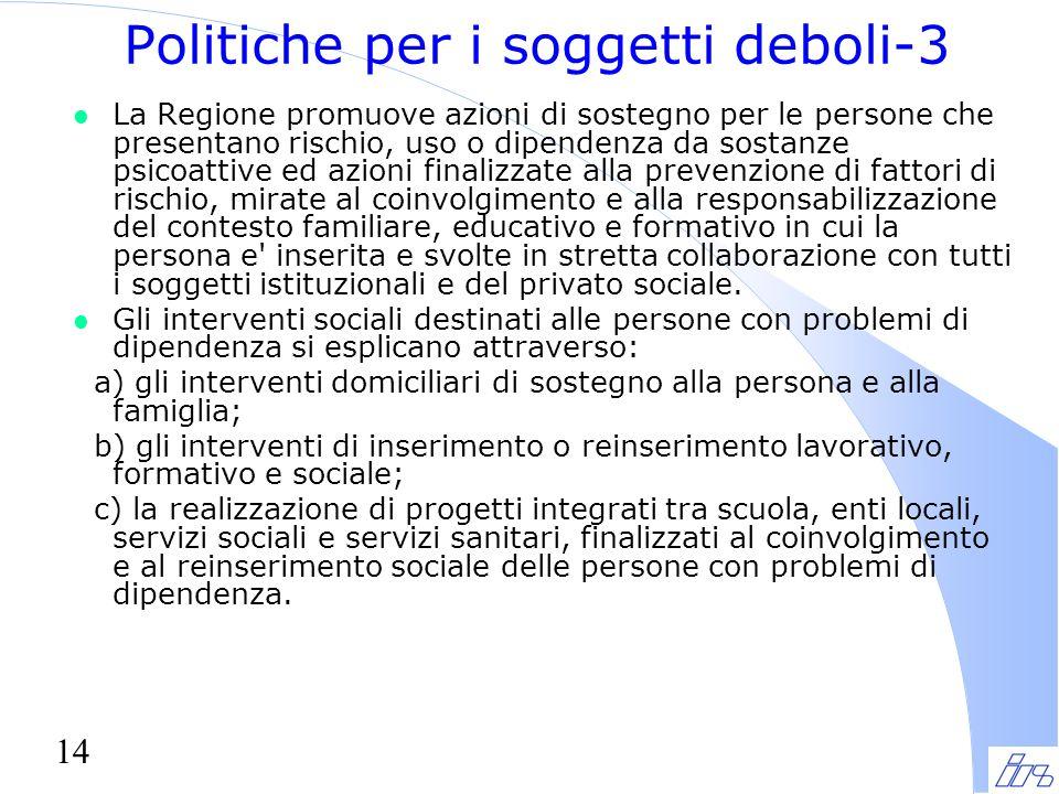 Politiche per i soggetti deboli-3