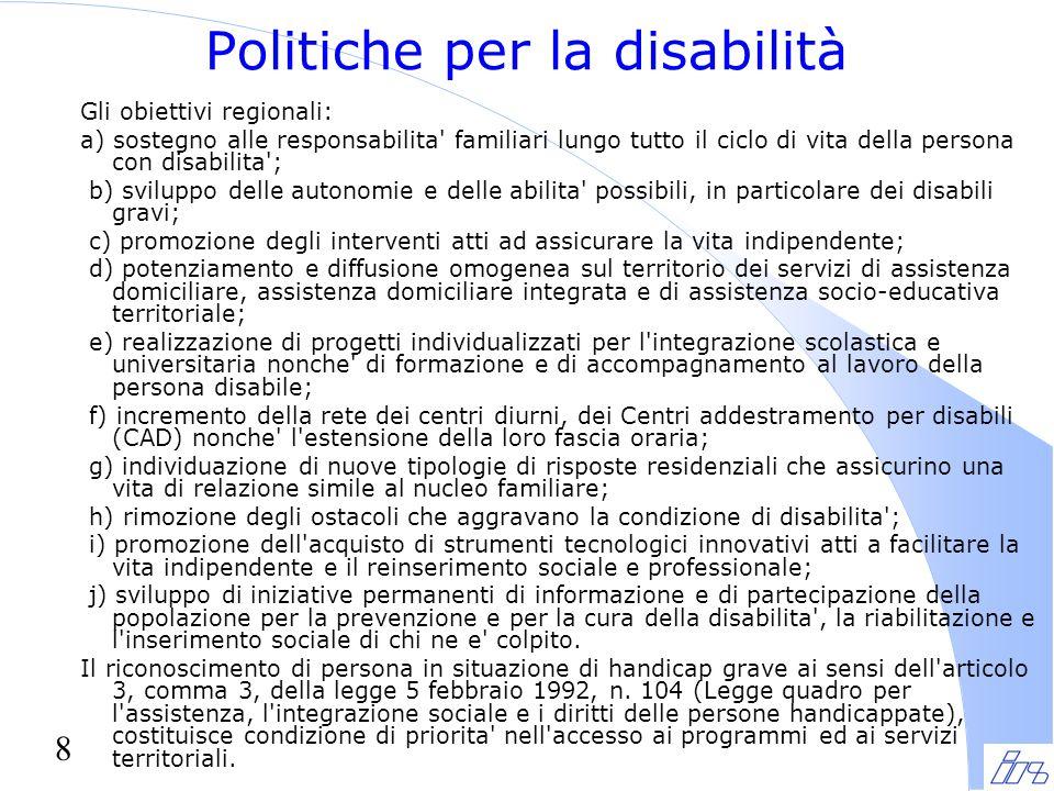 Politiche per la disabilità