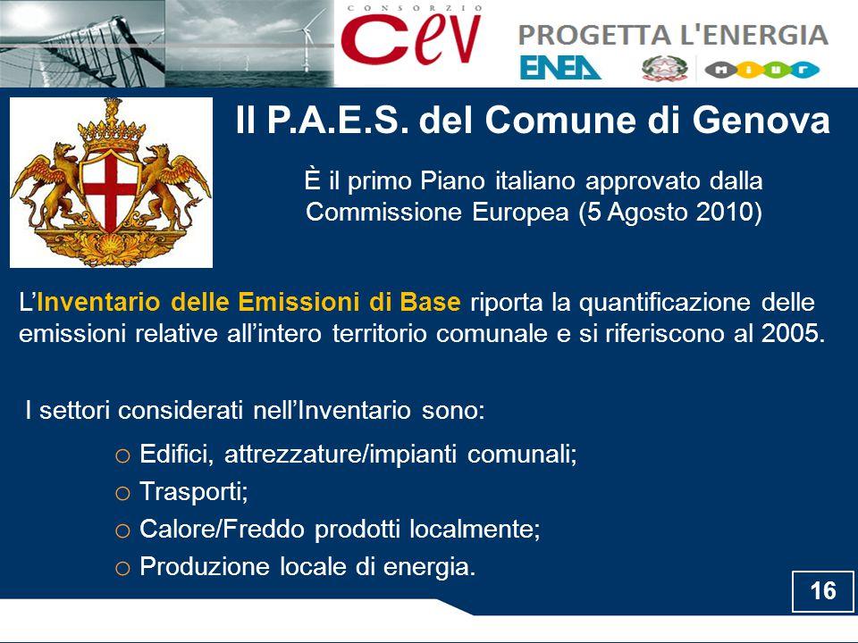 Il P.A.E.S. del Comune di Genova