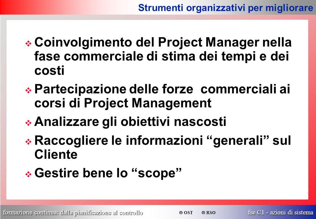 Partecipazione delle forze commerciali ai corsi di Project Management