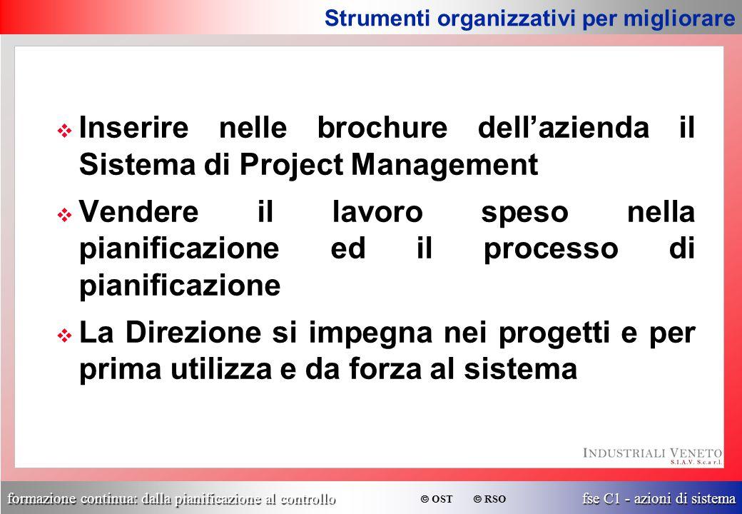 Inserire nelle brochure dell'azienda il Sistema di Project Management
