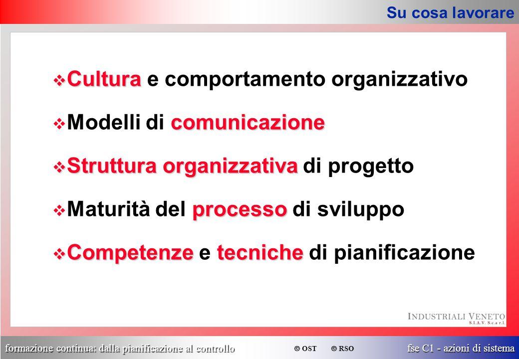 Cultura e comportamento organizzativo Modelli di comunicazione