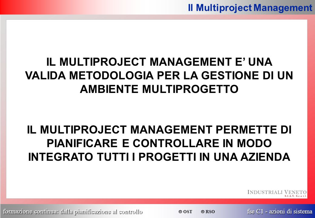 Il Multiproject Management