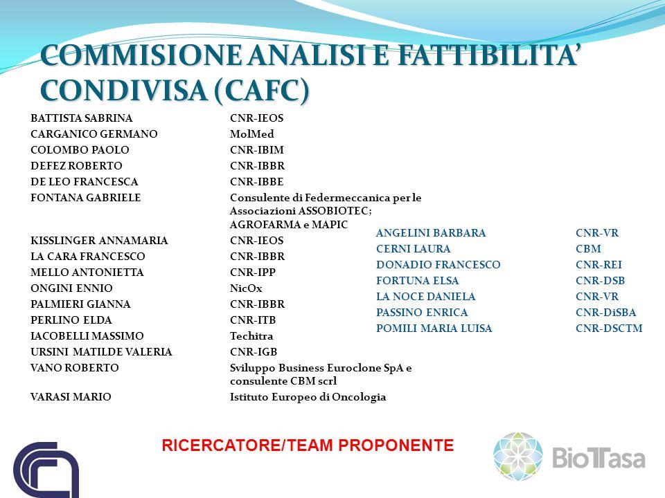 COMMISIONE ANALISI E FATTIBILITA' CONDIVISA (CAFC)