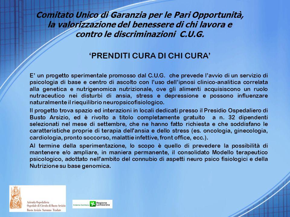 'PRENDITI CURA DI CHI CURA'