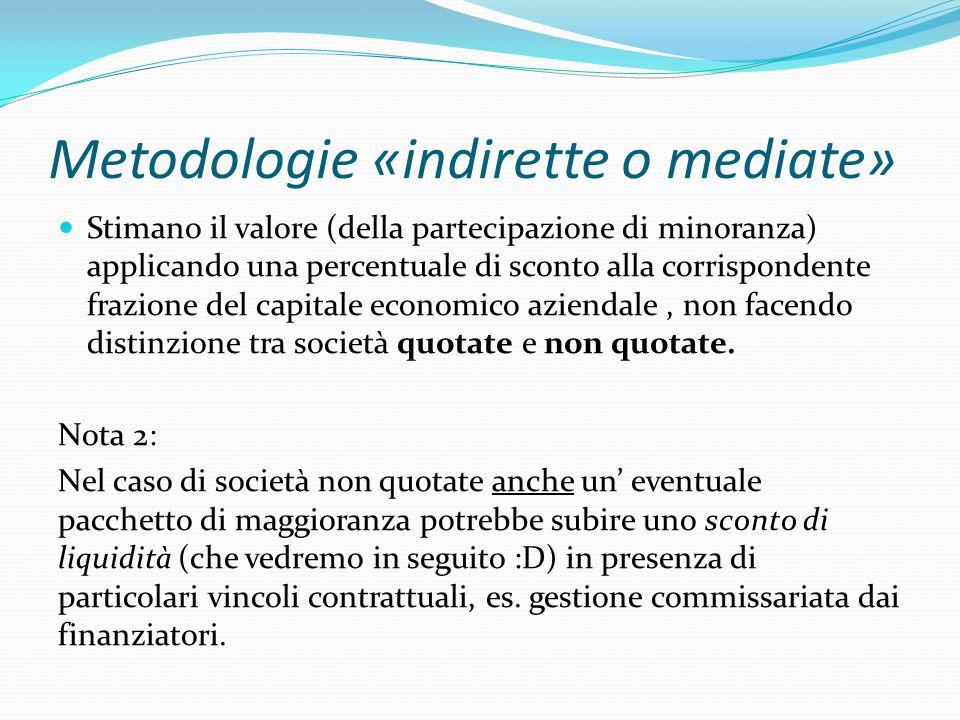 Metodologie «indirette o mediate»