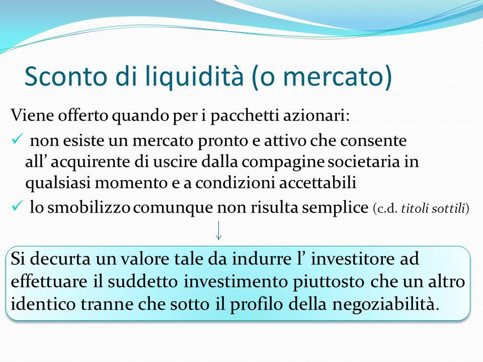 Sconto di liquidità (o mercato)