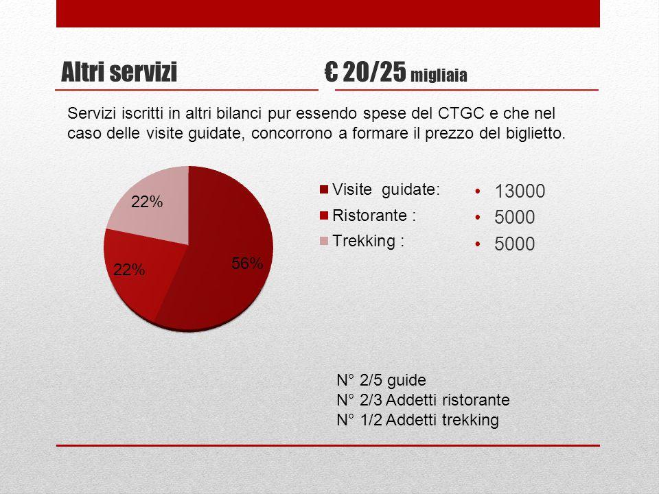 Altri servizi € 20/25 migliaia 13000 5000