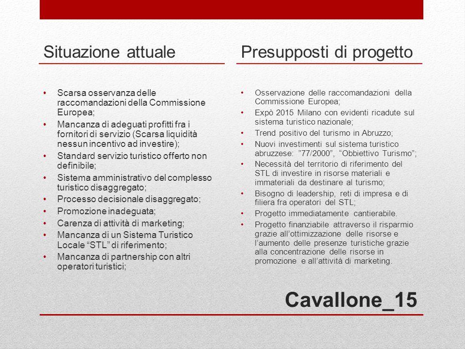 Cavallone_15 Situazione attuale Presupposti di progetto