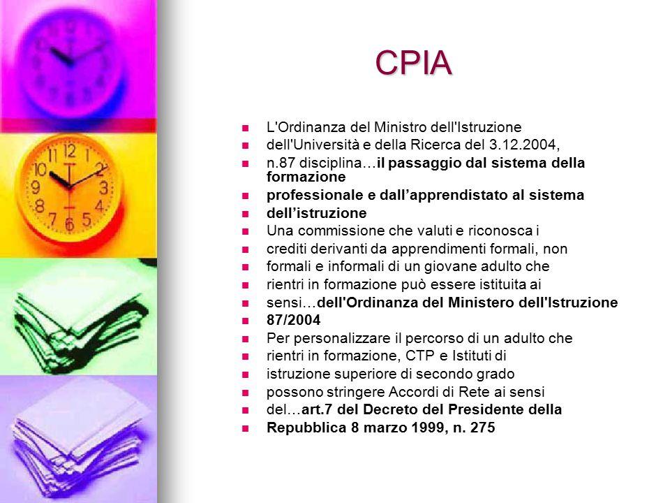 CPIA L Ordinanza del Ministro dell Istruzione