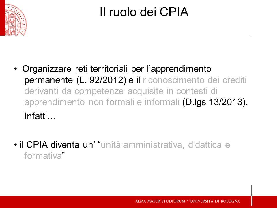 Il ruolo dei CPIA