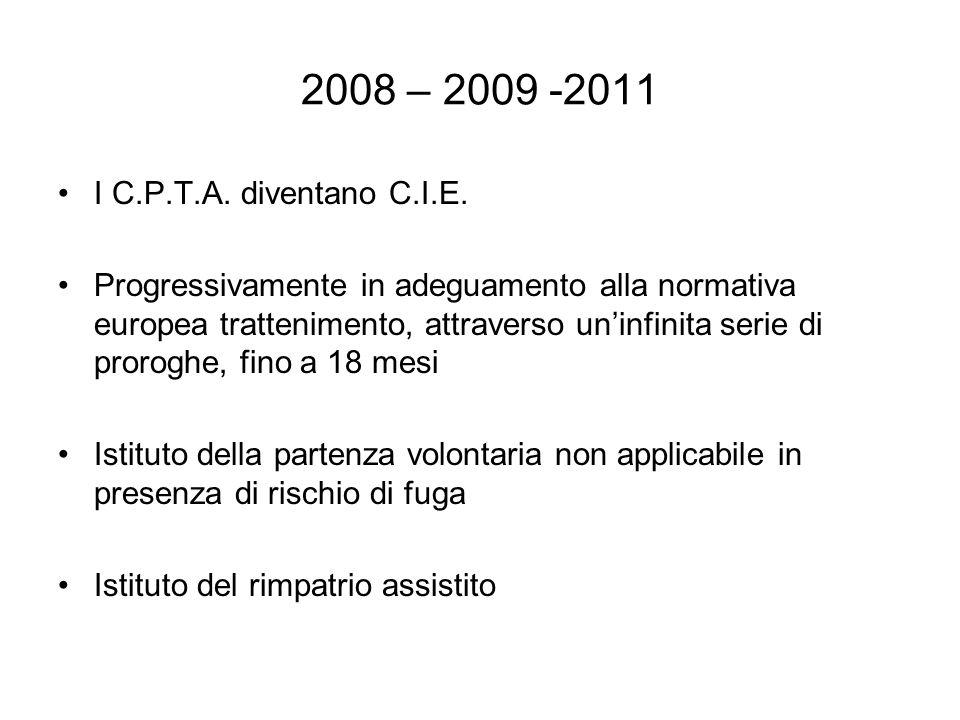 2008 – 2009 -2011 I C.P.T.A. diventano C.I.E.