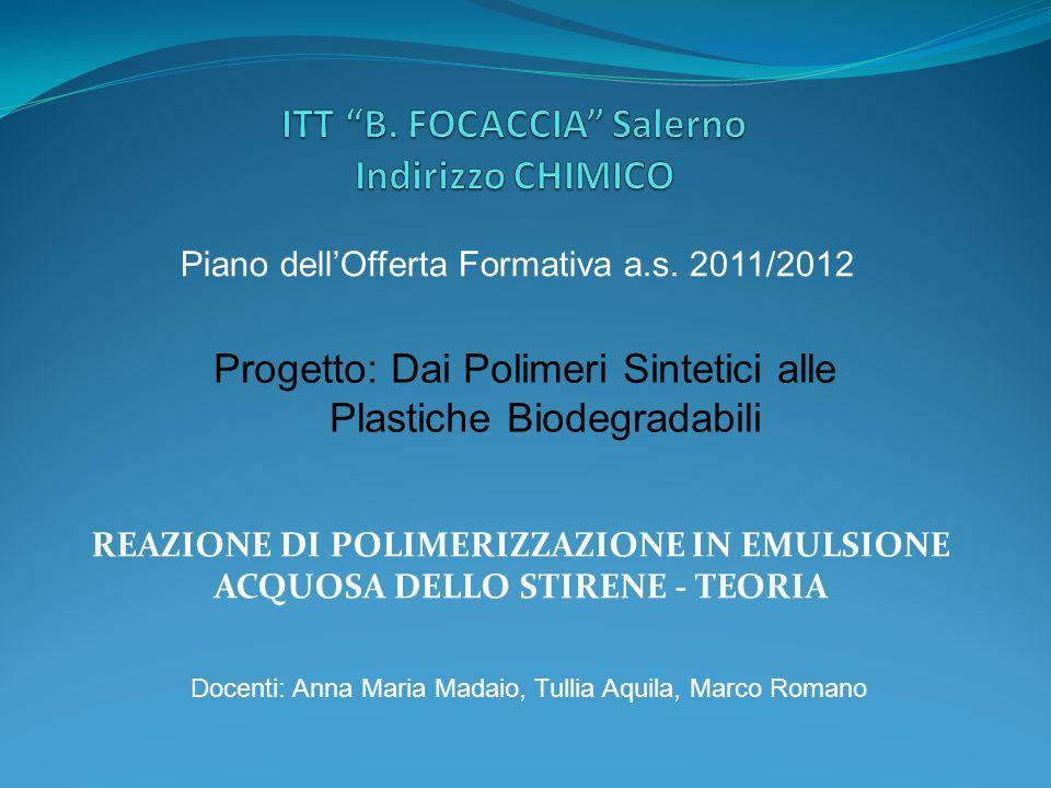 ITT B. FOCACCIA Salerno Indirizzo CHIMICO