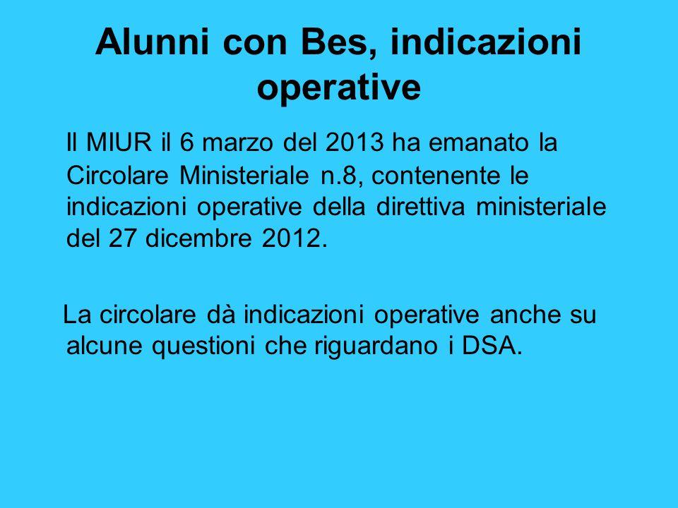 Alunni con Bes, indicazioni operative
